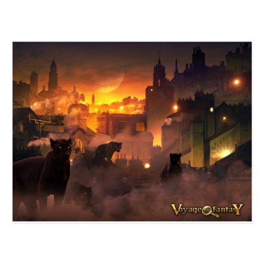 Carte Postale Postcard Voyage to Fantasy - Oriental Felines