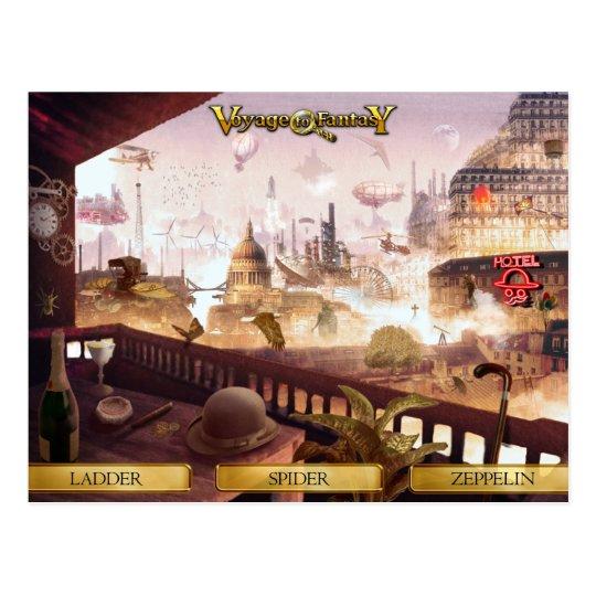 Carte Postale Postcard Voyage to Fantasy - SteamPunk City