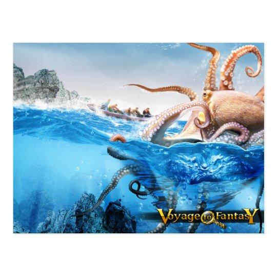 Carte Postale Postcard Voyage to Fantasy - The Cracken