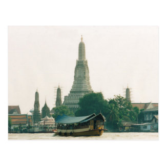Carte Postale Postcard Wat Arun at Chao Phraya River in Bangkok
