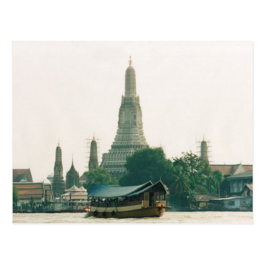 Carte Postale Postcard Wat Arun at Chao Phraya River in Bangkok