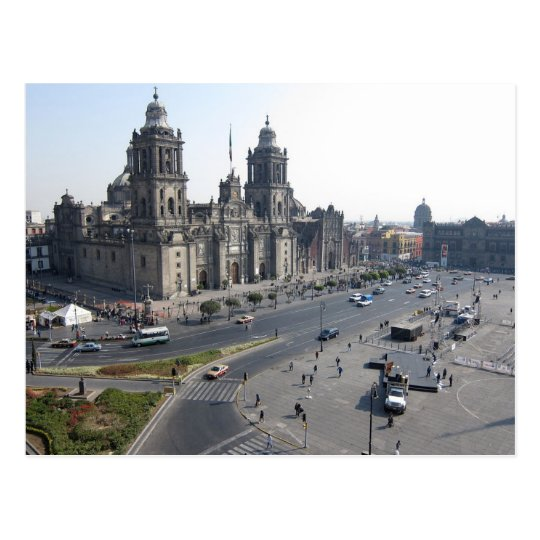 Carte Postale Postcard Zocalo Cathedral, Mexico City
