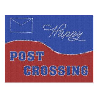 """Carte postale """"Postcrossing heureux ! Points """""""