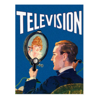 Carte Postale Poste TV de kitsch de téléphone intelligent tôt