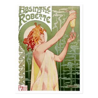 Carte Postale Poster vintage 1896 de Robette d'absinthe