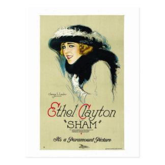 Carte Postale Poster vintage 1921 d'Ethel Clayton