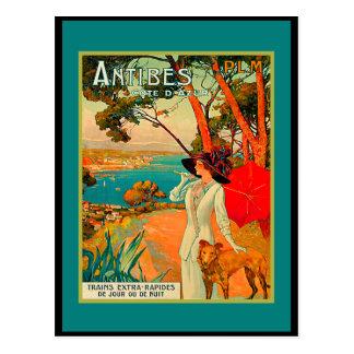 Carte Postale Poster vintage d'Antibes France