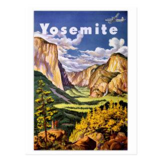 Carte Postale Poster vintage de parc national de Yosemite