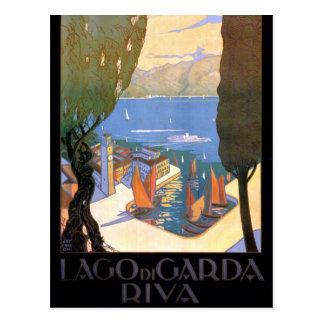 Carte Postale Poster vintage de policier de Lago di Garda Lake