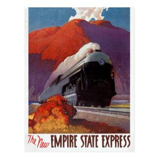 Carte Postale Poster vintage d'express d'état d'empire