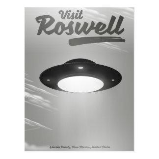 Carte Postale Poster vintage d'UFO de Roswell de visite