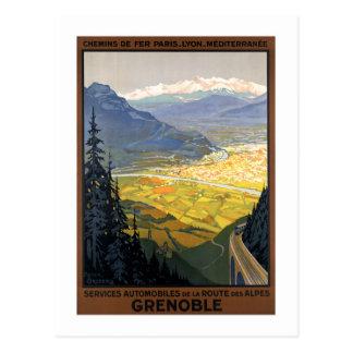 Carte Postale Posters vintage de chemin de fer de Grenoble