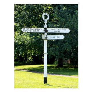 Carte Postale Poteau indicateur Hampshire de Chawton