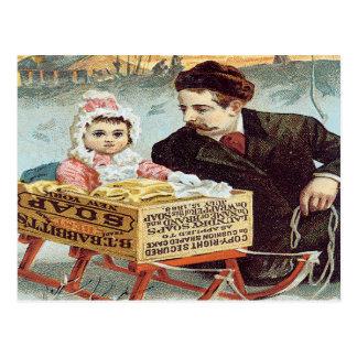 Carte Postale Poudre de savon de l'antifriction