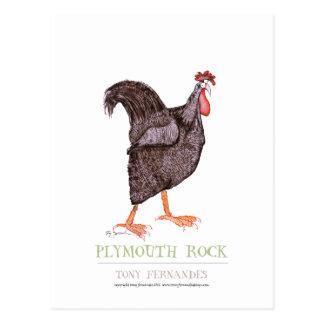 Carte Postale POULE de PLYMOUTH ROCK, fernandes élégants