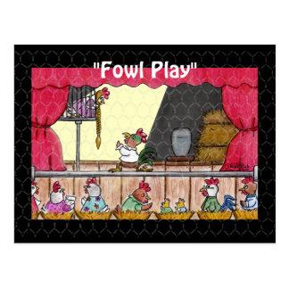 Carte Postale Poulet Rapunzel de jeu de volaille