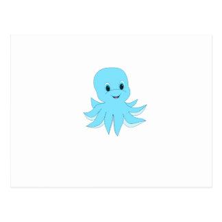Carte Postale Poulpe bleu mignon