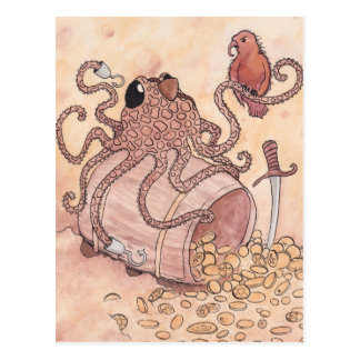 Carte Postale Poulpe de pirate