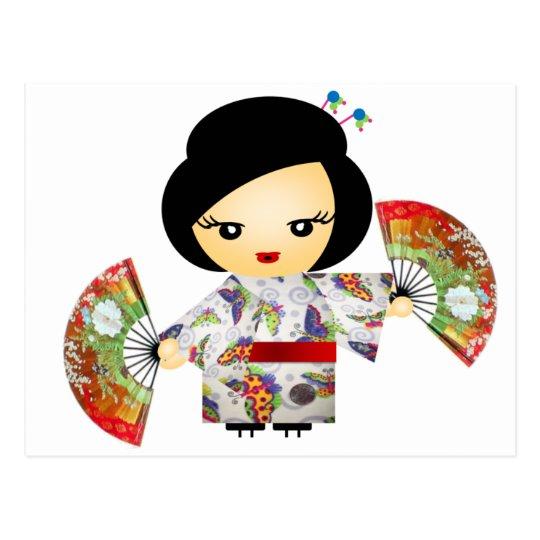 Carte Postale Poupée avec Kimono