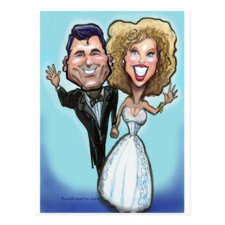 Carte Postale Poupées de gâteau de mariage