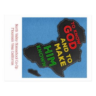 Carte Postale Pour connaître Dieu et lui faire Felted connu