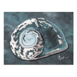 Carte postale pour la plage d'escargot de mer