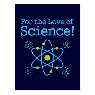 Carte Postale Pour l'amour de l'atome de la Science