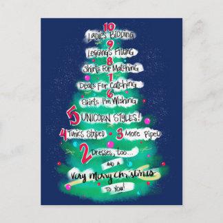 Carte Postale Pour Les Fêtes Compte à rebours de Noël d'habillement