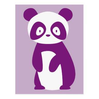 Carte postale pourpre de panda