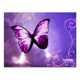Carte postale pourpre de papillon