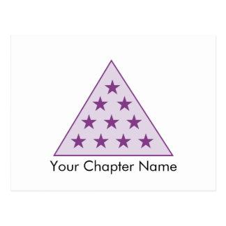 Carte Postale Pourpre de pyramide du sigma pi