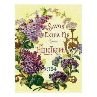 Carte postale pourpre de Savon