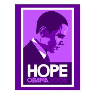 Carte Postale Pourpre d'espoir d'Obama