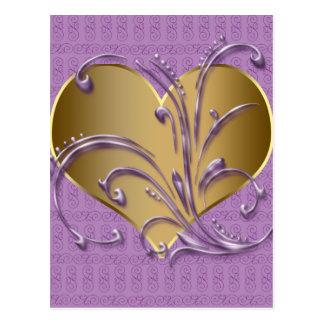 Carte Postale Pourpre et coeur d'or
