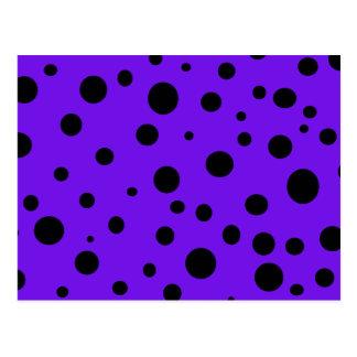Carte Postale Pourpre violet avec les produits scalaires de pois