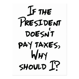Carte Postale Pourquoi impôts de salaire ?