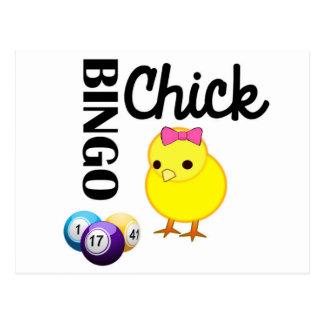 Carte Postale Poussin de bingo-test