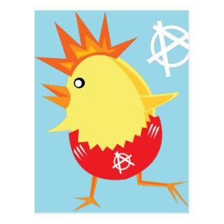Carte Postale poussin de Pâques d'anarchie de punk rock