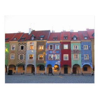 Carte Postale Poznan coloré