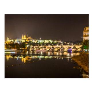 Carte Postale Prague - château et pont de Charles