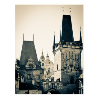 Carte Postale Prague, République Tchèque - porte de tour de pont