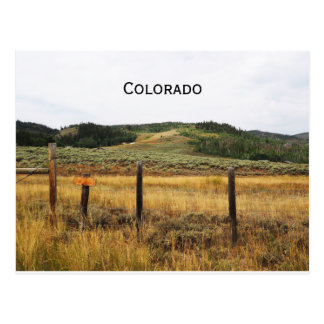 Carte Postale prairie dans le Colorado