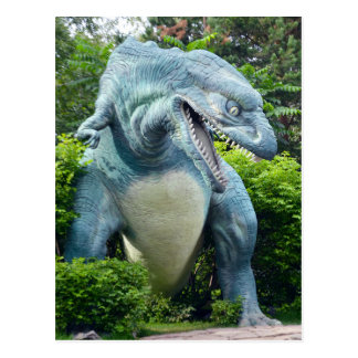 Carte postale prédatrice de dinosaure