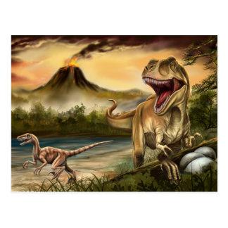 Carte postale prédatrice de dinosaures