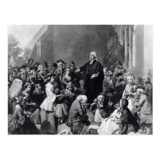 Carte Postale Prédication de John Wesley