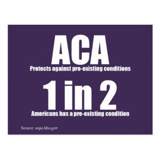 Carte postale préexistante d'état d'ACA