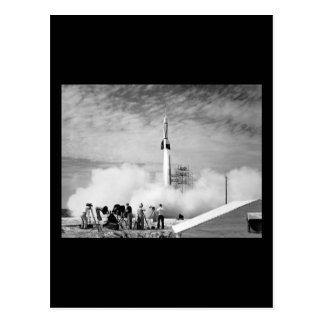 Carte Postale Premier lancement de Rocket, Cap Canaveral,