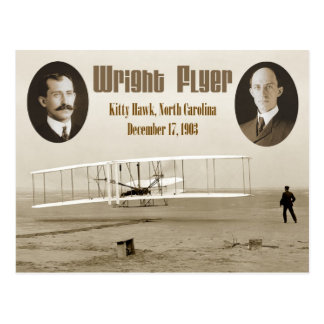 Carte Postale Premier vol de l'insecte 1903 de Wright