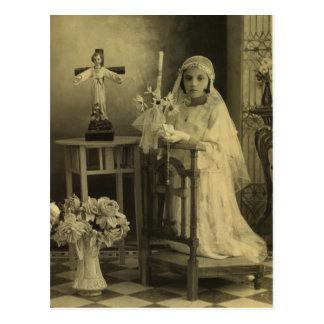 Carte Postale Première communion de cru