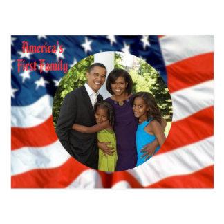 Carte Postale Première photo de famille du Président Obama